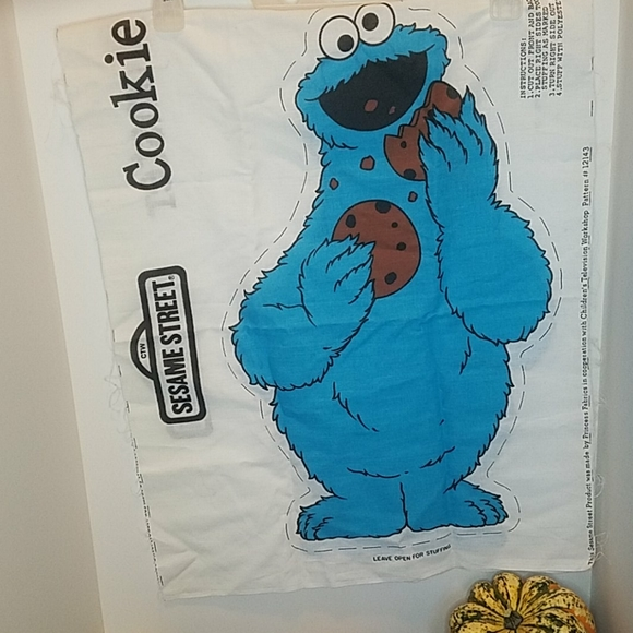 New Cookie Monster Fabric Pattern Pillow Doll